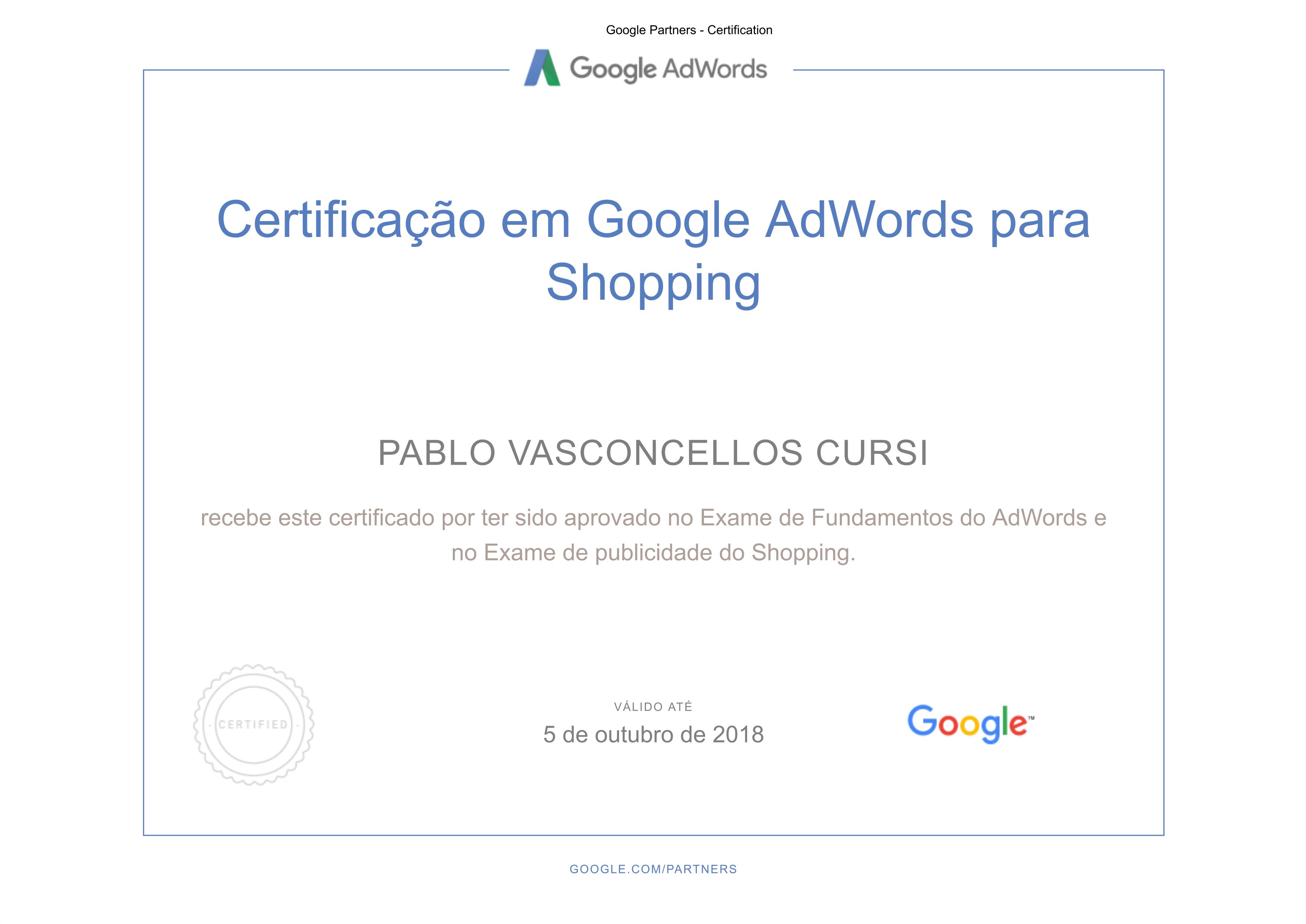 certificado shopping 1024x725 - Google AdWords – Facebook Ads